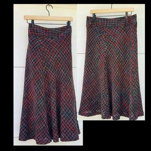 JONES WEAR Flare Skirt ~ Black Red Multi Color